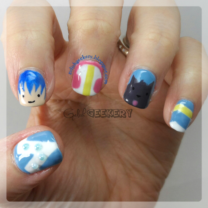 Gelish Dramatical Murder Aoba Anime Nails