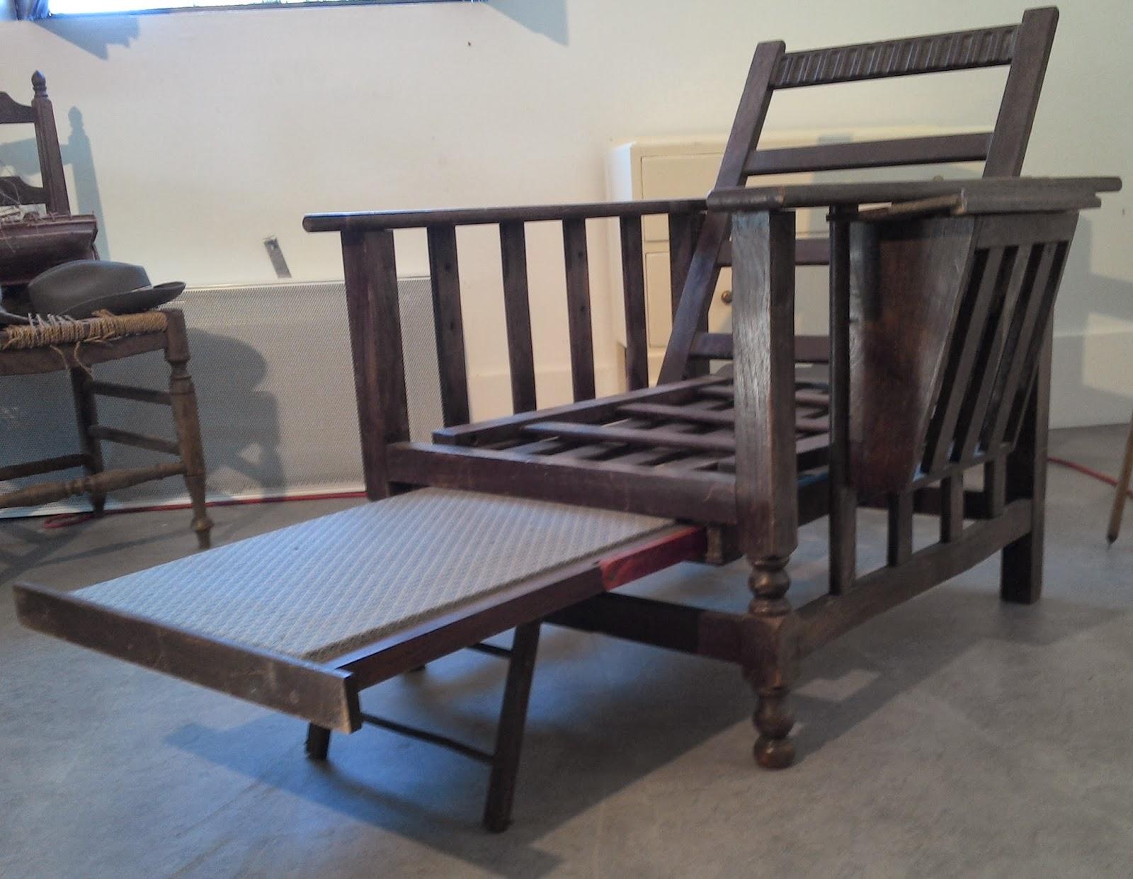Ancien Fauteuil A Systeme Chaise Longue Rare Et Bizarre Modulable Design Scandinave France