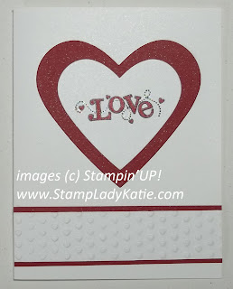 card made sith Stampin'UP!s Outlined Occasions Sale-a-bration Stamp set and the new Adorning Accents Embossing Folder. Made by Stamp Lady Katie