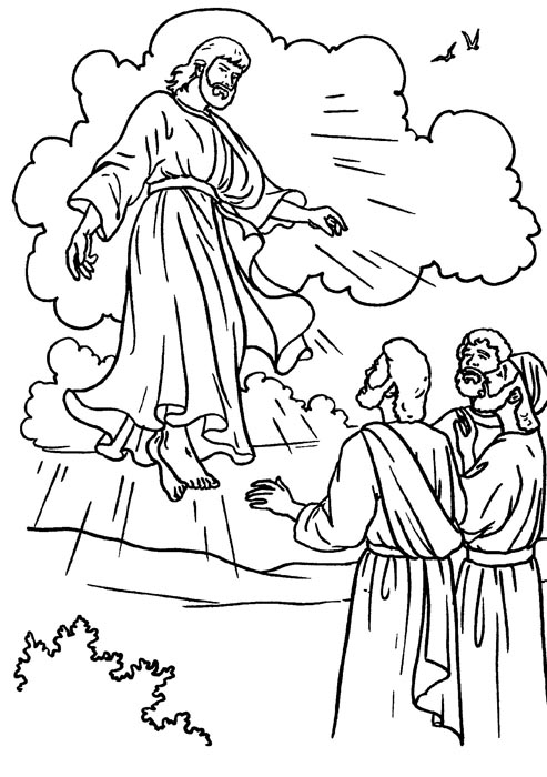 Resurreccion de Jesus para colorear ~ Dibujos Cristianos Para Colorear
