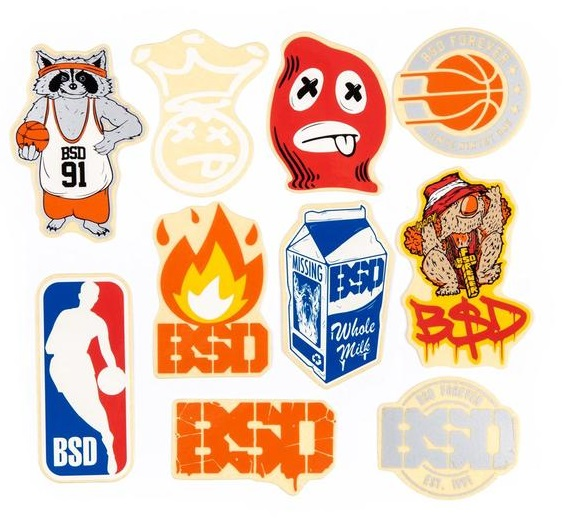 Stickers BSD 2018 $20.000