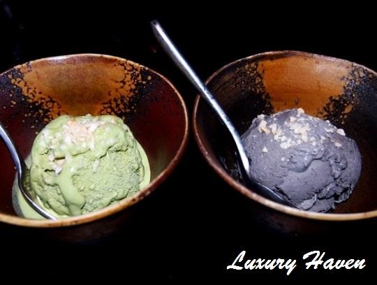 lone pine matsu japanese desserts matcha kurogoma ice-creams