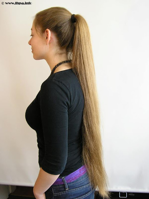 African girl in ponytail