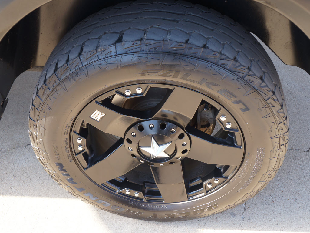 "Ford Dealership Phoenix >> Sale Price $24,998 2010 Dodge Ram 4x4 1500 Silver Crew Cab Truck. Has ""20 Black Custom Wheels ..."