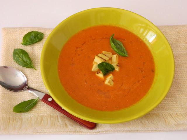 Supa crema de linte cu rosii