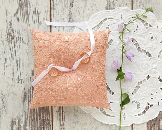 Lace coral pillow, свадебная кружевная подушка