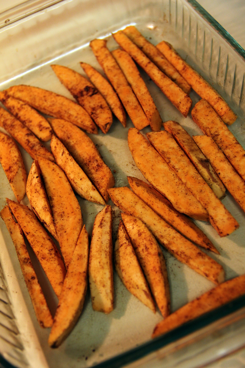 ... Adventures of Valocrat: Recipeat: Crispy Tofu with Sweet Potato Fries