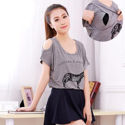 Baju menyusui Model Casual Murah
