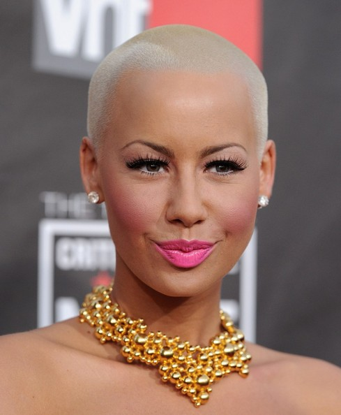 pics of amber rose with hair. tattoo amber rose with hair.