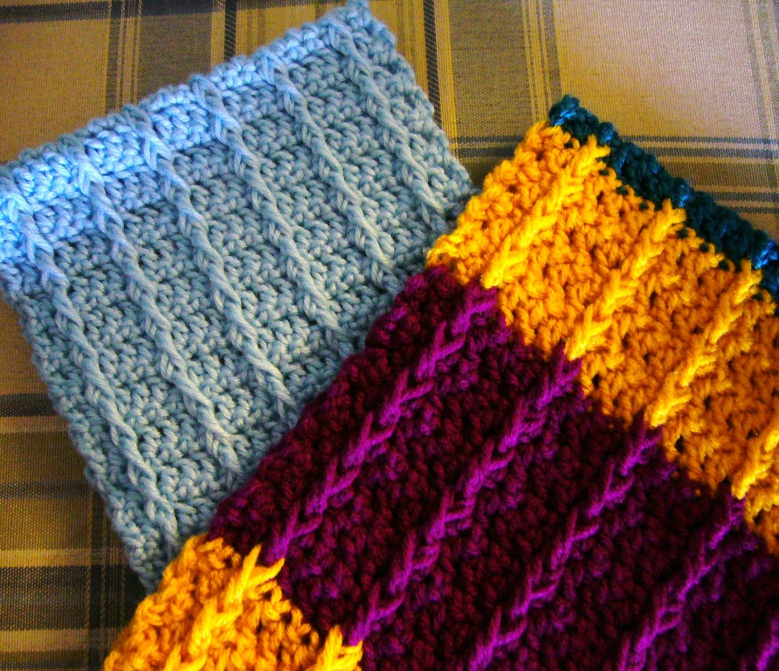 Crochet Stitches Front Post Double Crochet : Simply Shoe Boxes: Double Crochet Front Post Crochet Scarf Pattern ...