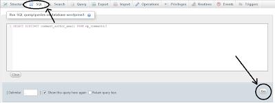 Running SQL Queries in phpMyAdmin