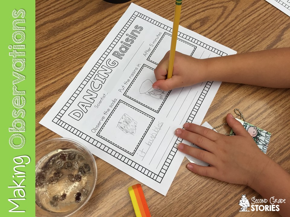 Being a Scientist Experiment Fun Second Grade Stories – Dancing Raisins Worksheet