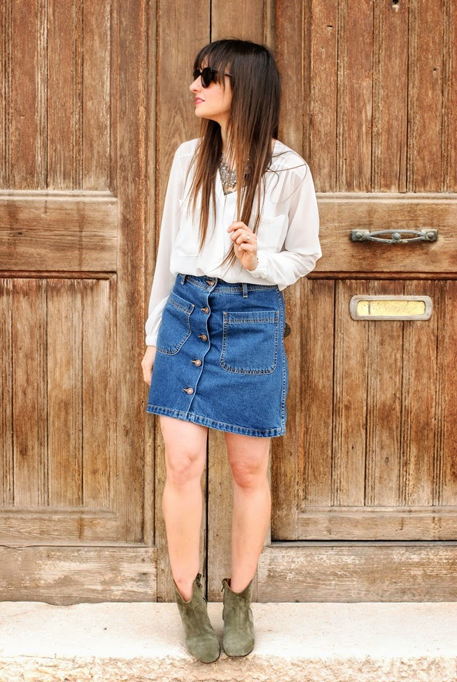 Denim Skirt Zara