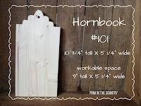 """Hornbook #101(10 3/4"""" X 5 1/4"""") $10.99"""