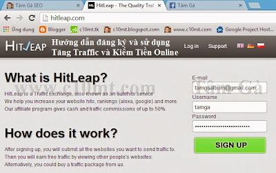 hướng dẫn tăng traffic website với Hitleap