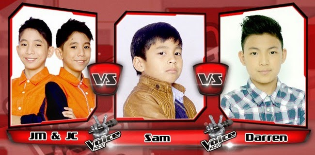 Darren Won over JC & JM and Sam on The Sing-offs for The Voice Kids Philippines