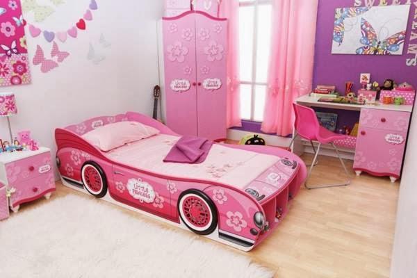 Car Bed For Girls Ladies Bedroom Pink Beautiful