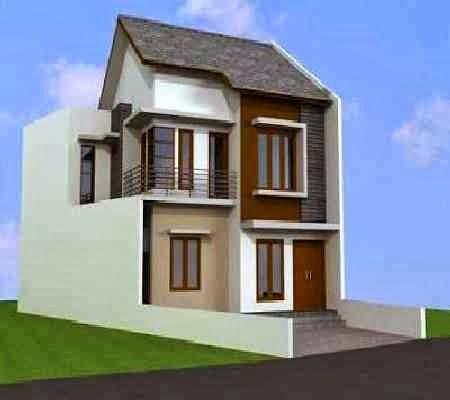 fasad rumah minimalis 2 lantai tampak depan