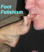 Feet fetishism guy kissing foot