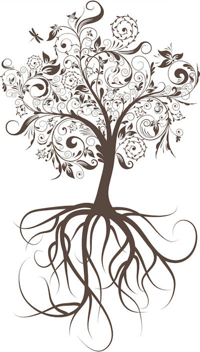 Tree Drawings With Roots Tattoos Pin Logo