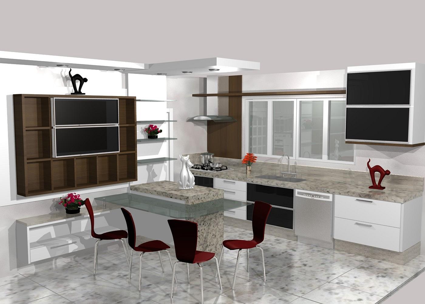Cozinhas Planejadas Lindos Projetos Cozinha Sob Medida #603B32 1400 1000