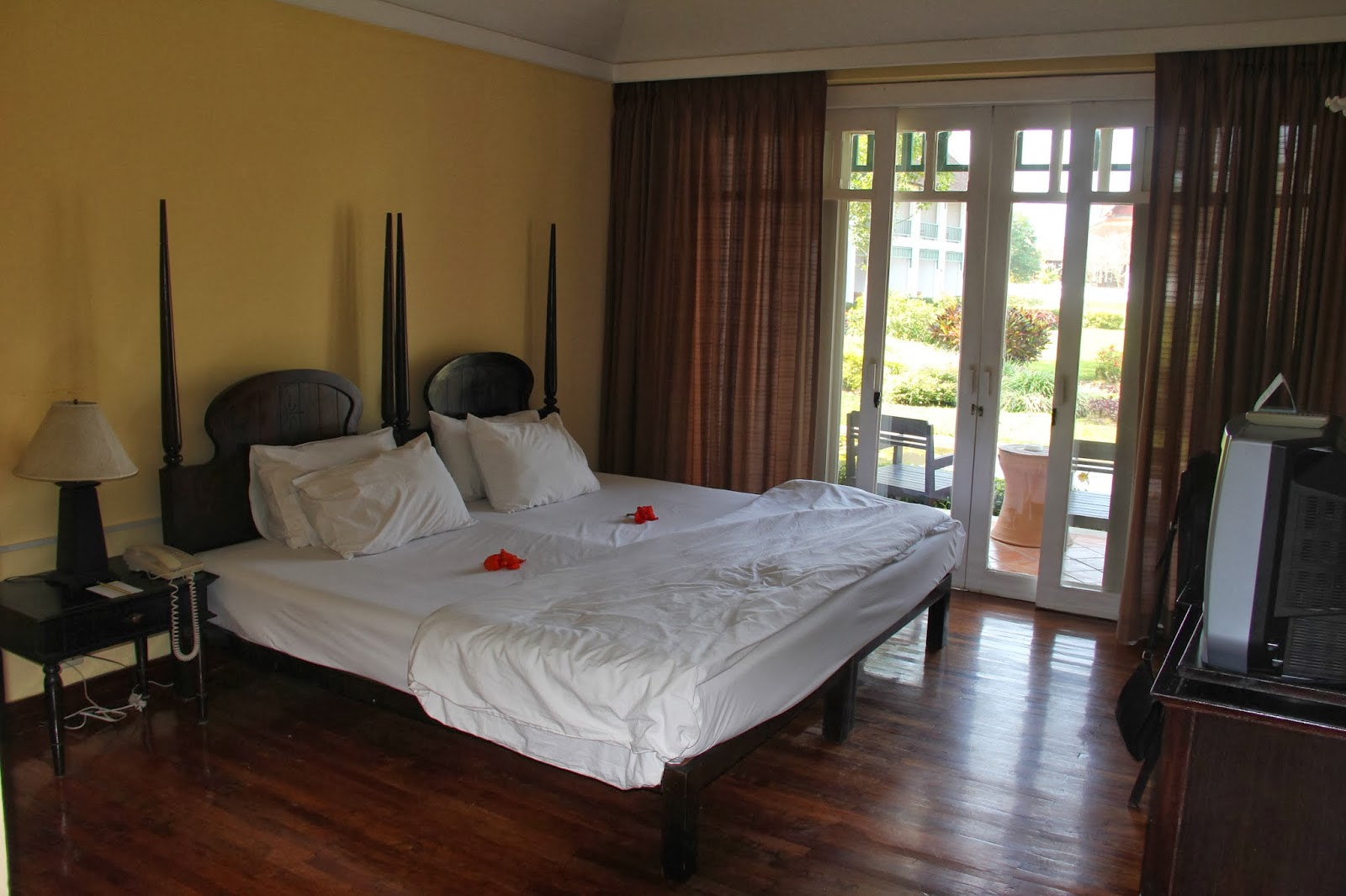 Our room at the Grand Luang Prabang Hotel-lovely!
