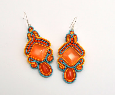 sutasz kolczyki  soutache earrings 31