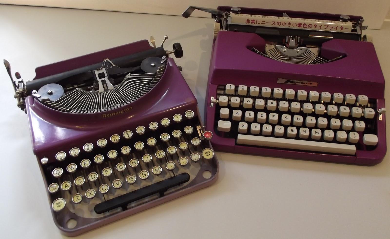 oz.Typewriter: Purple Prose: In a Purple Haze with Purple Typewriters