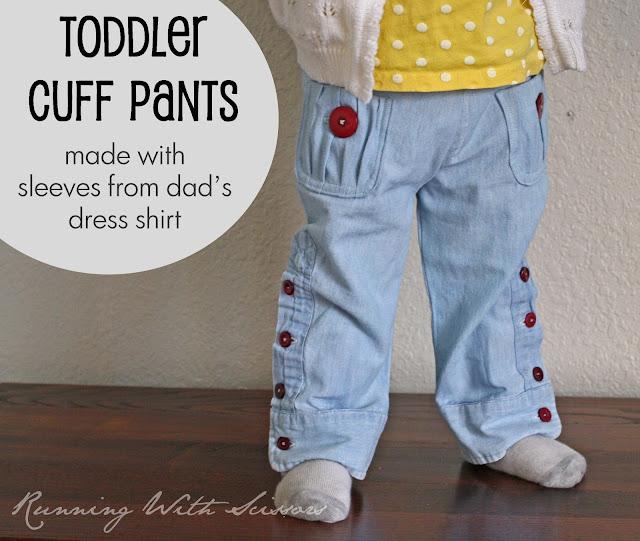 toddler cuff pants tutorial