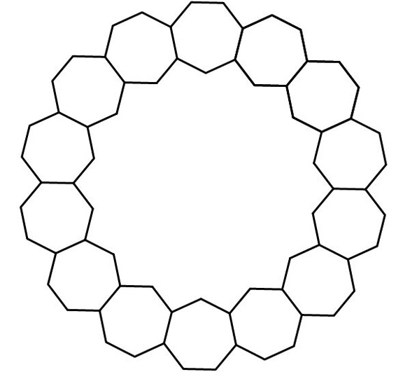 Common Worksheets shapes heptagon : Tessellations 8 ---What won't work   Barbara Brackman's MATERIAL ...