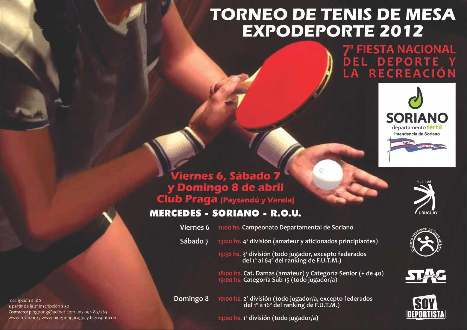 Pingpong uruguay torneo de tenis de mesa en mercedes - Torneo tenis de mesa ...