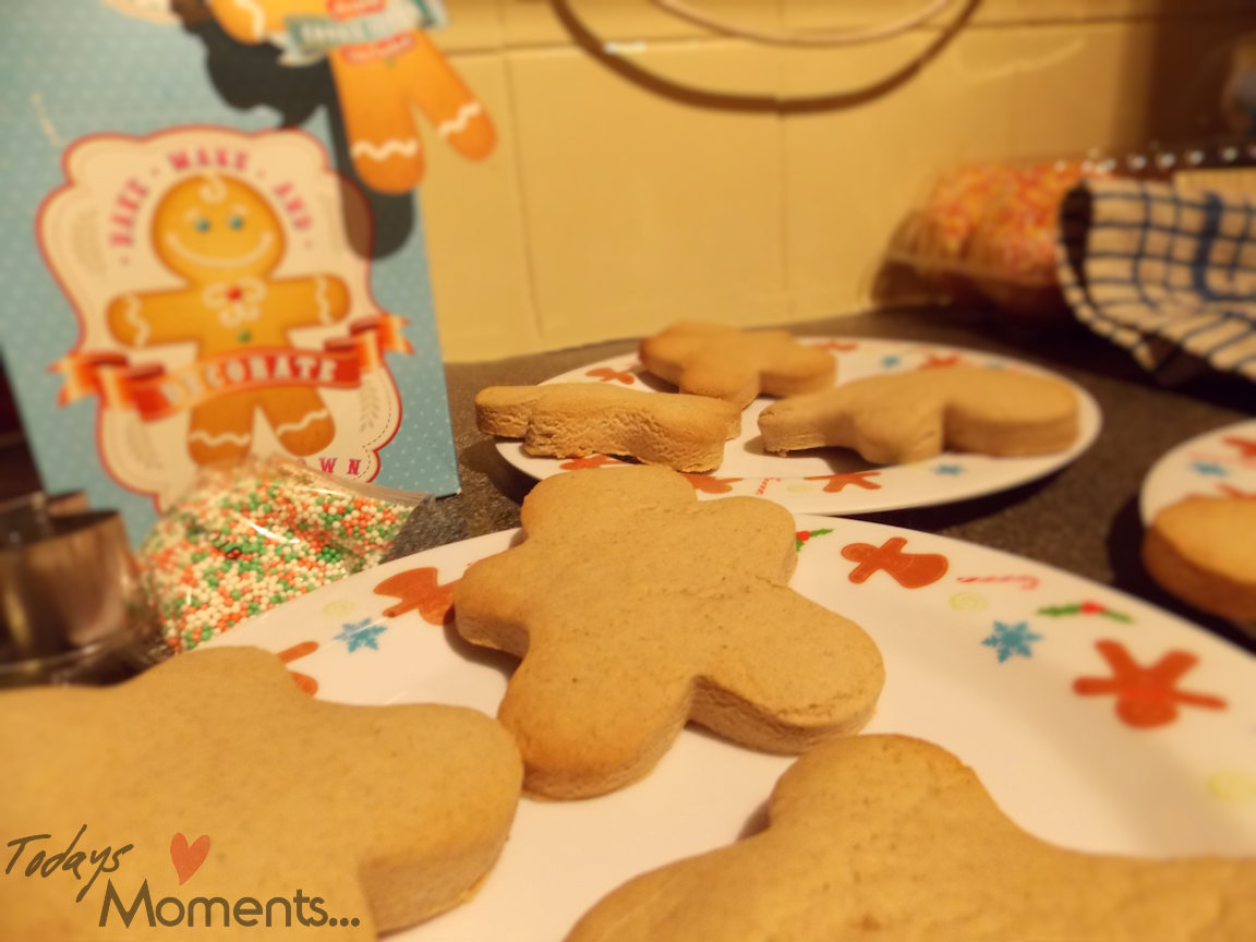 home baking gingerbread men kit for kids