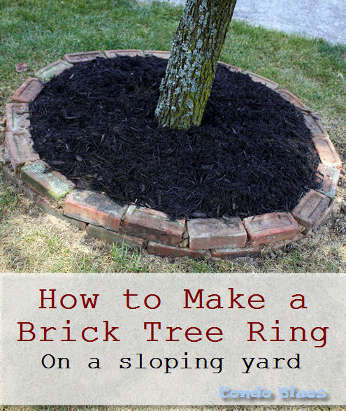 after i repaired our crumbling brick garden border read the tutorial here it was time to turn our attention to the brick tree ring - Brick Garden 2015