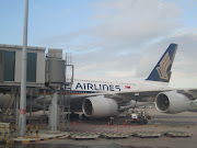 Arrived beside Singapore Airlines A380. Hope to fly with it, someday. (img )