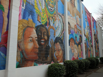 View of Mural from Sidewalk
