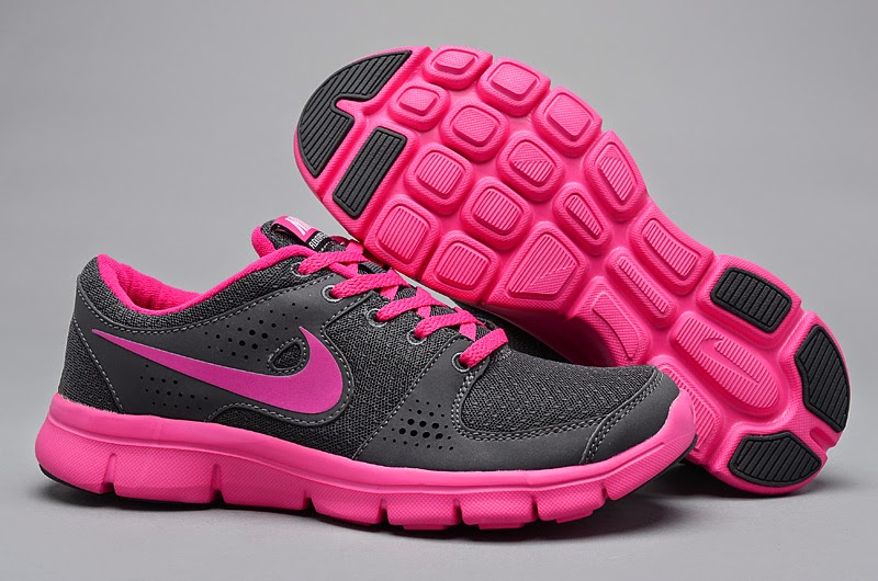 budget nike air max gray pink running shoes wear