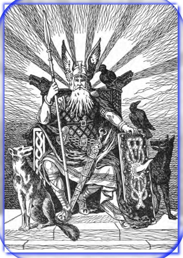 Odyn Bóg Nordycki wojny mądrości poezji i magii - duchowy uzdrowiciel