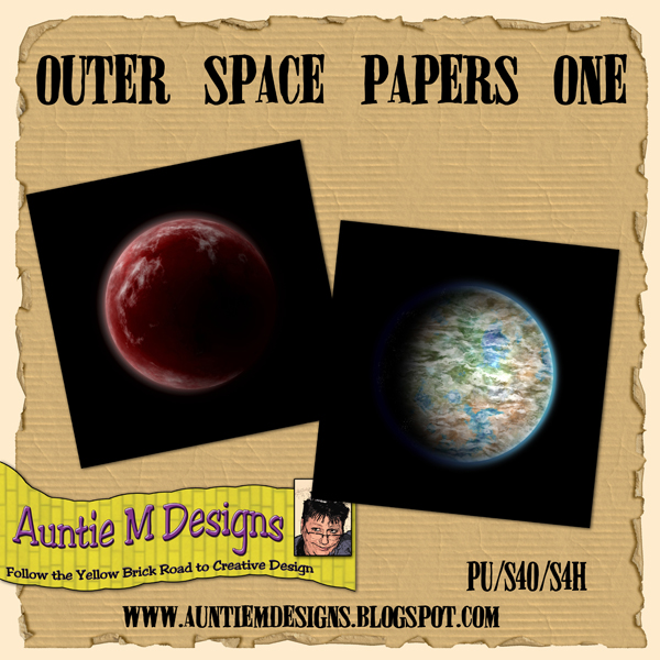 Auntie m designs outer space papers set one for Outer space designs norwich