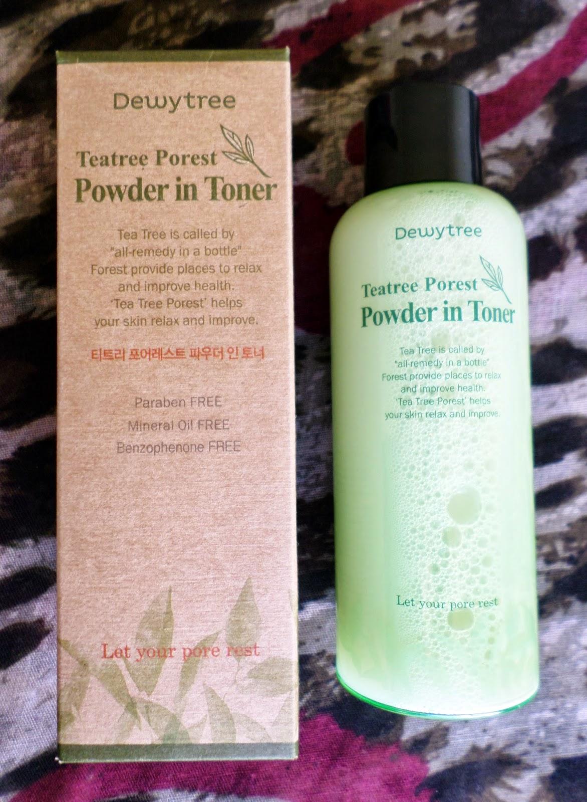 Dewytree Tea Trea Porest Powder in Toner