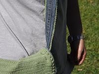 Detalle bandolera bolso crochet