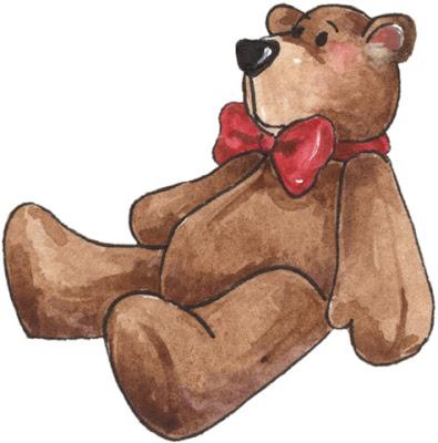 Desenho de urso de pelúcia colorido
