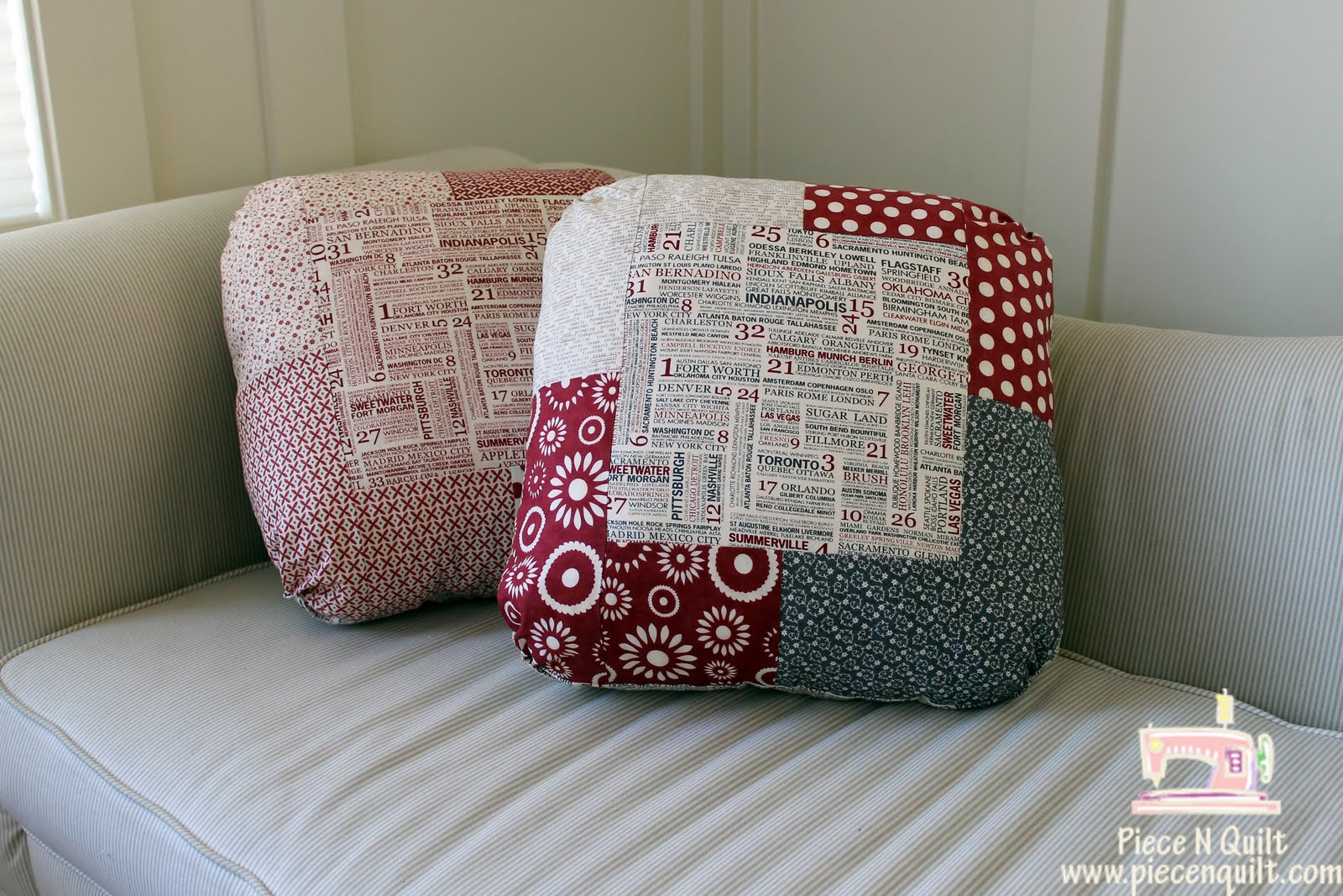 how to make a pillow quilt