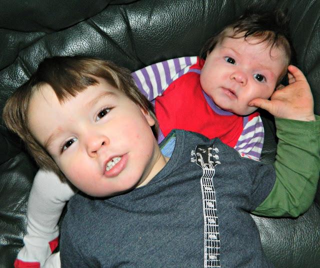 Boy girl brother sister smile baby toddler