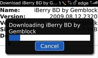 Langkah 2b Install Tema BlackBerry via OTA