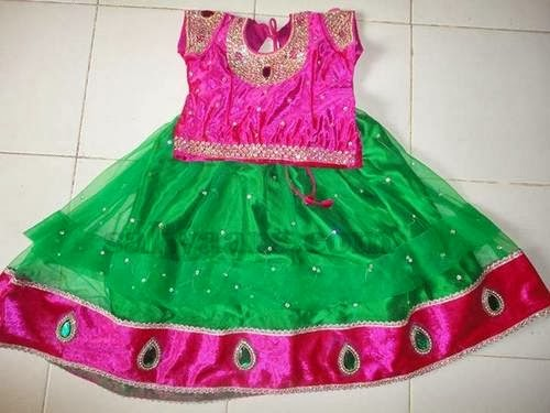 Pink and Sea Green Skirt