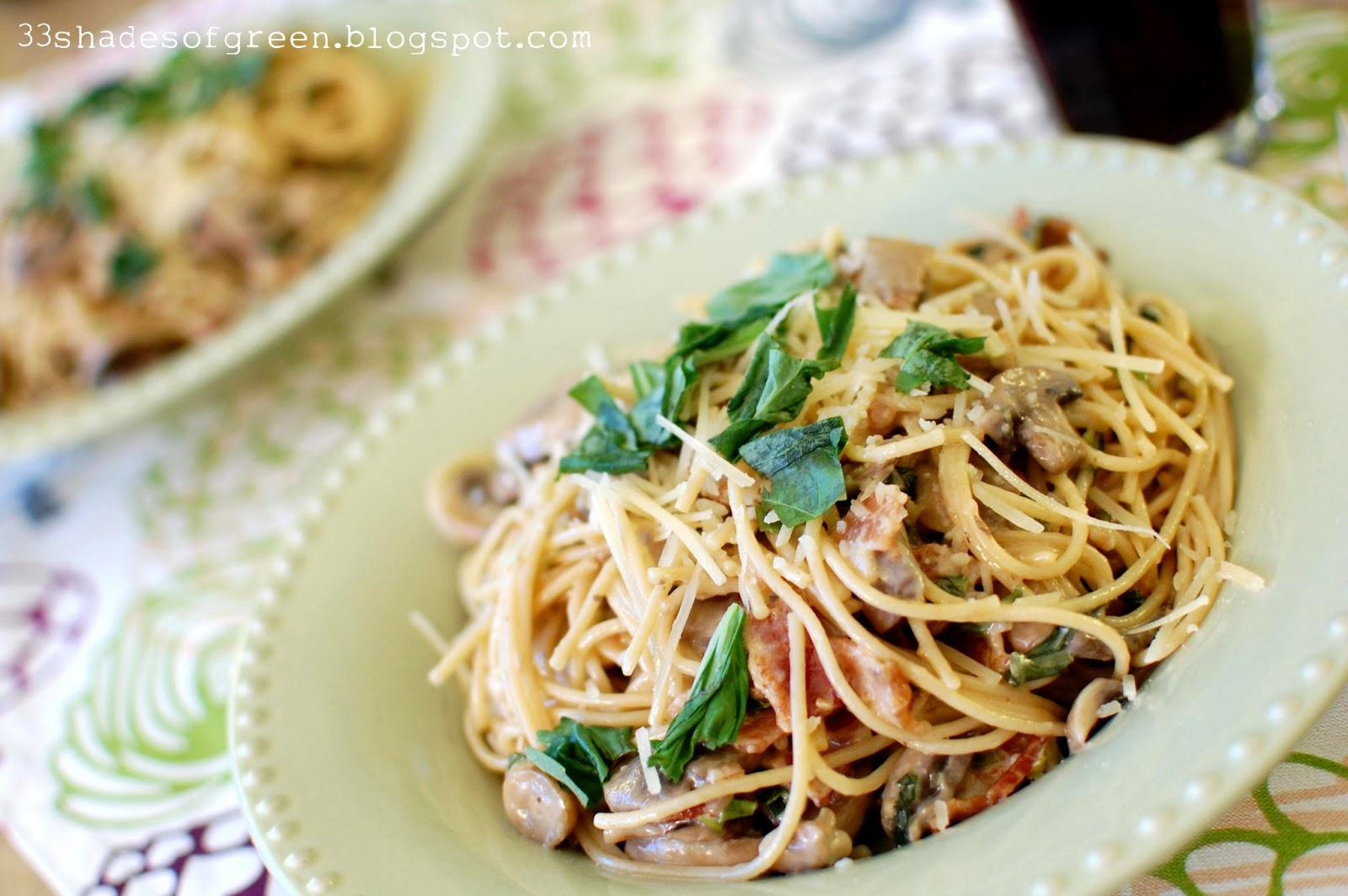 Add pasta to the mixture and stir until coated with sauce. Top with ...