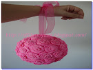 Bouquet Bola porta alfileres rosa
