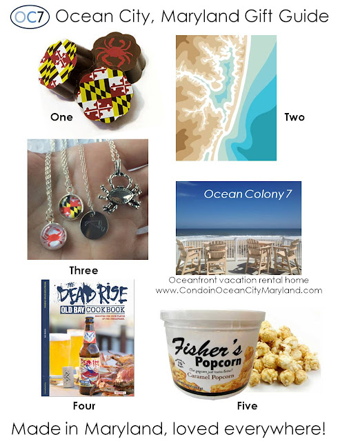 Ocean City Maryland gift guide from Ocean Colony 7 oceanfront vacation rental home