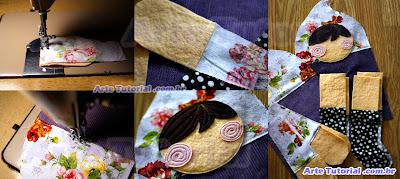 Como fazer boneca de pano com tecido de retalho