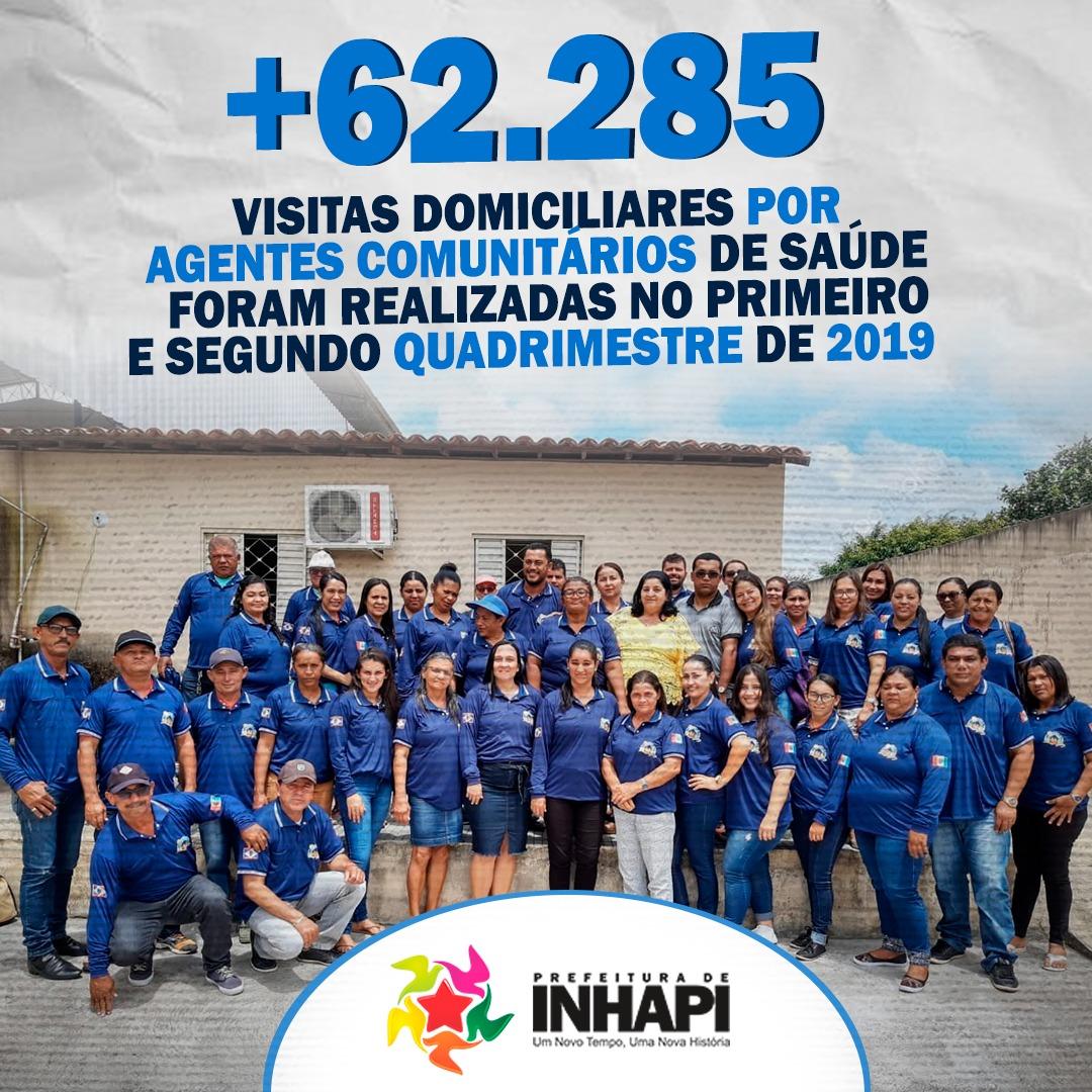 VOCÊ SABIA? | MAIS DE 62.285 VISITAS DOMICILIARES FORAM REALIZADAS POR AGENTES COMUNITÁRIOS DE SAÚD